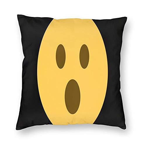FULIYA Paquete de 1 funda de almohada cuadrada suave para sofá, cama, decoración del coche, 45 x 45 cm, sonrisa, emoticones, Emoji, arte, vector