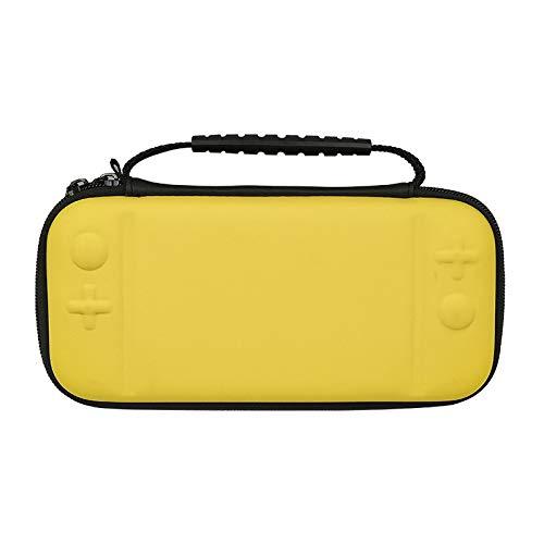 A bolsa de mão TwiHill é adequada para bolsa de mão switch lite bolsa de armazenamento EVA mini host com mezanino pode armazenar cassete (Amarelo)