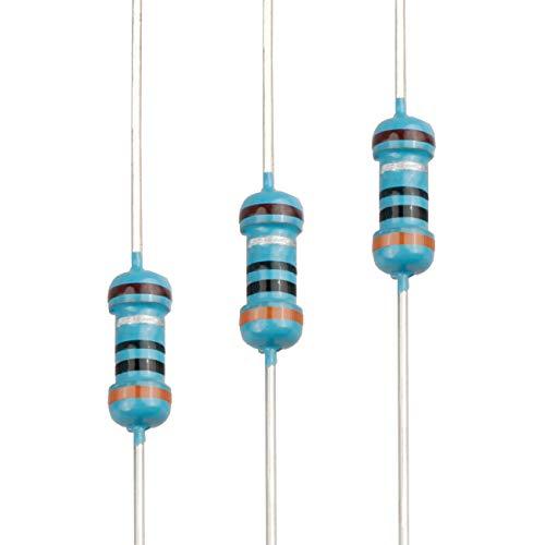 EDGELEC 100pcs 3 ohm Resistor 1/4w (0.25 Watt) ±1% Tolerance Metal Film Fixed Resistor, Multiple Values of Resistance Optional