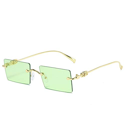 SXRAI Gafas de sol para mujer, sin marco, sin montura