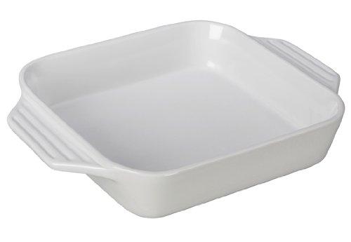 "Le Creuset Stoneware Square Dish, 2.2 qt. (9.5""), White"