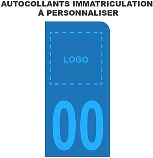Stickers voor kentekenplaat, scooter, personaliseerbaar