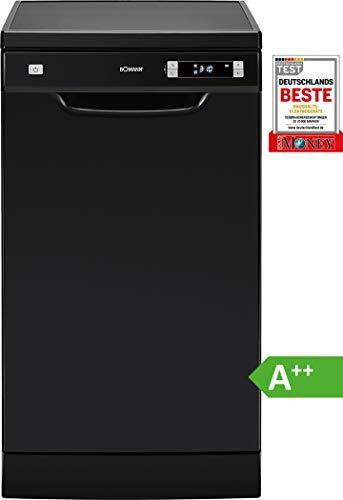 Bomann GSP 863 vaatwasser Vrijstaand 10 plaatsen GSP 863, Vrijstaand zwart, compact (45 cm), zwart, knopen, LED