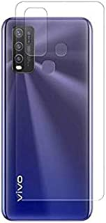 For Vivo Y50 2 in 1 Screen Back Gelatin Full Side Whith Lens Camera Nano Glass - Clear