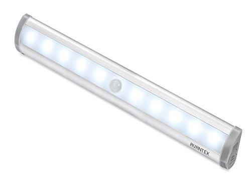 AVANTEK Wireless Luce Notturna Lampade con Motivi Movimento con Doppi Sensori LED Luci per Muro Ripostiglio Armadio Parete (a Pile)