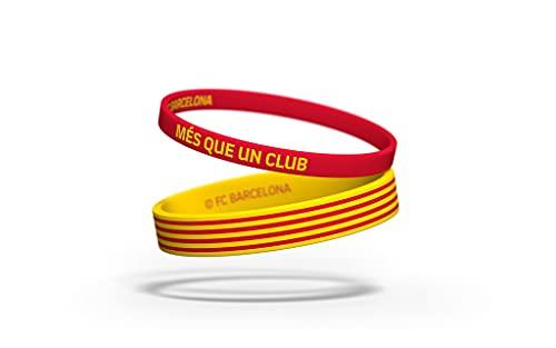 Braccialetto Football Club Barcelona Senyera | Braccialetto Barcellona in silicone | Sostenete il FC Barcelona con un prodotto ufficiale del club | FCB e Nessun tipo di metallo, colore: giallo, rosso