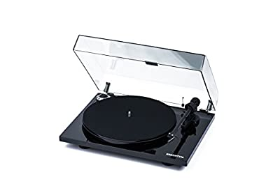 Pro-Ject Essential III Belt-Drive Turntable with Ortofon OM10 Cartridge (Piano Black) from Pro-Ject