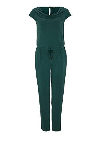 s.Oliver BLACK LABEL Damen Jumpsuit mit Wasserfall-Ausschnitt dark green 46