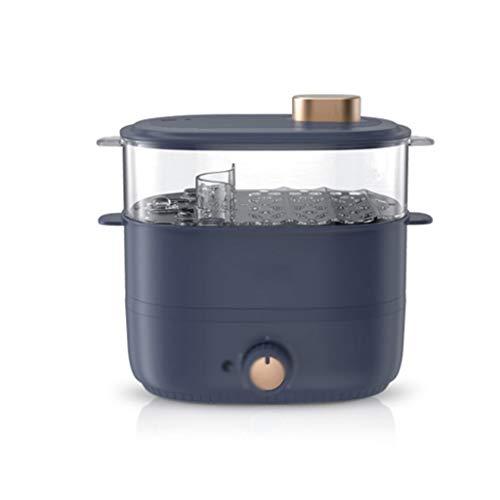 SCRFF De tamaño pequeño hogar Multifuncional de Doble Capa de Gran Capacidad de cocción de Huevos al Vapor Cocina al Vapor