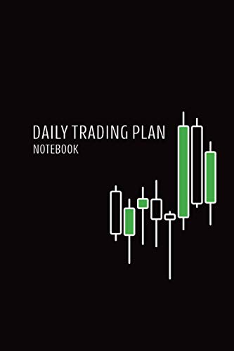 Daily Trading Plan Notebook: Black Candlestick Currency Trading Journal