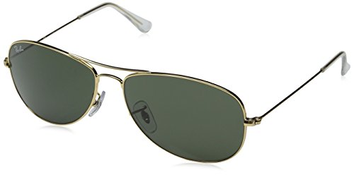 Ray-Ban - Gafas de sol unisex, color arista / crystal green, talla medium