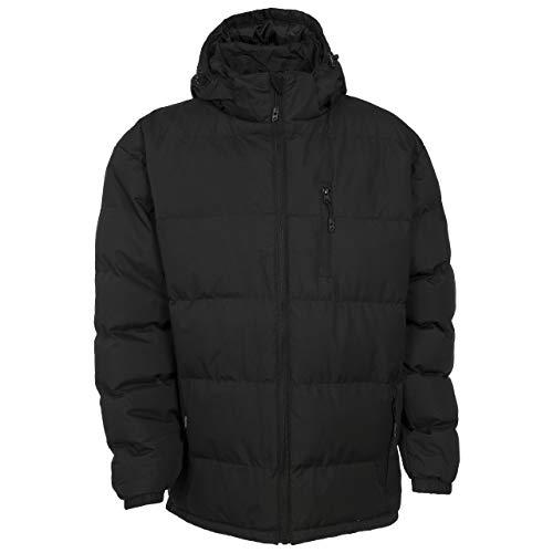 Trespass Clip, czarny, M, ciepła wyściełana wodoodporna kurtka z odpinanym kapturem dla mężczyzn, średnia, czarna