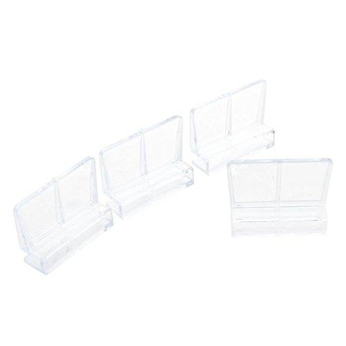 TOOGOO(R)4 Stueck 6 mm Aquarium Glas Abdeckung Clip Stuetzhalter - Transparent