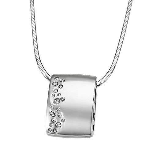 Goldmaid Damen-Kette mit Anhänger Sternenhimmel 925 Sterlingsilber 19 Zirkonia  Schlangenkette 45 cm