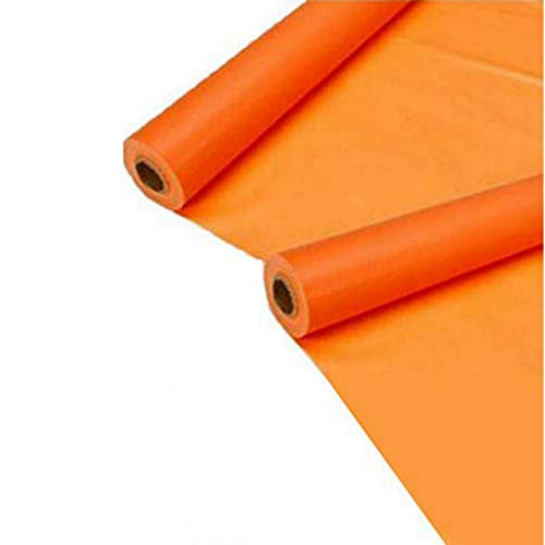 Veraitech Synthetic School and Notebook Cover Stretchable Binding Cover Roll, 14 inche X 4 Miter (Orange) - Set of 2 Book Cover roll