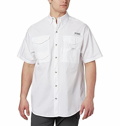 Columbia Men's Bonehead Short Sleeve Shirt,White,3X