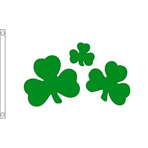 AZ FLAG Irish Shamrock Flag 3' x 5' - Ireland Flags 90 x 150 cm - Banner 3x5 ft