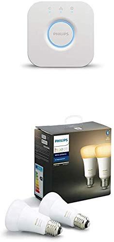 Philips Hue 2 Ampoules LED Connectées White Ambiance E27 Compatible Bluetooth et...