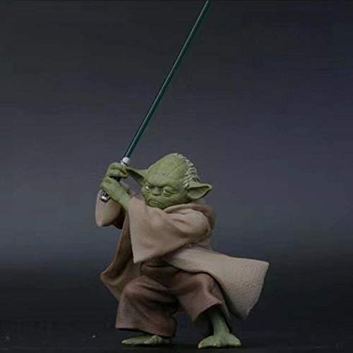 QAL Star Wars The Force Despierta El Maestro Yoda Yoda Toma La Espada Animado Figura Modelo 13CM