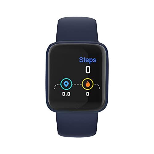 Smartwatch Hombre reloj inteligente Hombre Mujer moda con Oxígeno Sanguíneo Presión Arterial Frecuencia Cardíaca Sueño, Multifunción Reloj Deportivo Adecuado para Android iOS Teléfono móvil