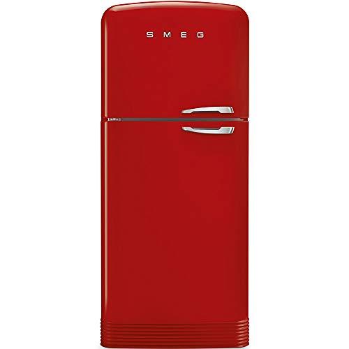 Smeg FAB50RRD Frigorifero combinato anni '50,rosso , 80 cm. tutto no-frost. Classe energetica A++ cerniera sinistra