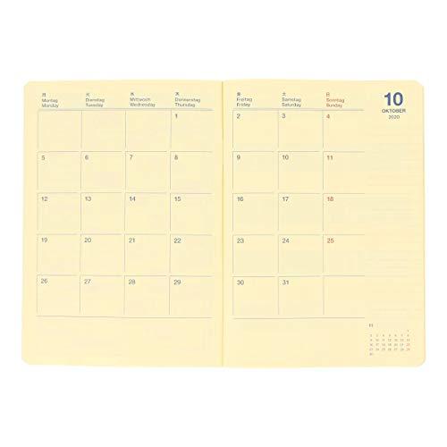 【デルフォニックス手帳2021年版/2020年10月始まり】ロルバーンノートダイアリーガントチャートB6ダークブルー