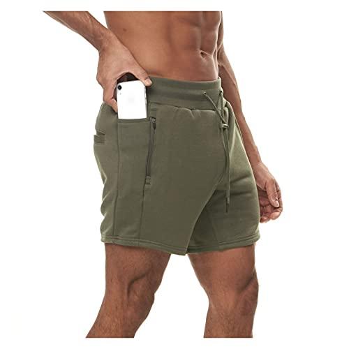 GuanXiao Tienda de fábrica Men's Outdoor Fitness Fit Running Shorts Ajustable Cintura Tamaño Suelto Mangas Cortas Multifuncionales Shorts Hip Hop Transpirable Kimono Suelto