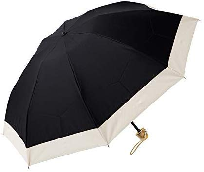 100%完全遮光 99%ではダメなんです! 【Rose Blanc】 3段折りたたみ 日傘 コンビ(傘袋付) 晴雨兼用 50cm ...