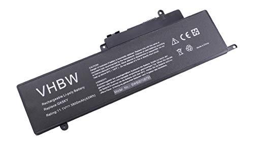 vhbw Battery compatible with Dell Inspiron 15-7568, 11 3000, 11 3000 Series (3157), 11 3147 3000 11.6' Laptop (3900mAh, 11.1V, Li-Ion, black)
