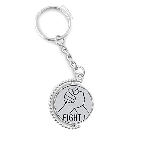 DIYthinker Handgelenk-Wrestling Personalisierte Geste Drehbare Schlüsselanhänger Ringe 1.2 Zoll x 3.5 Zoll Mehrfarbig
