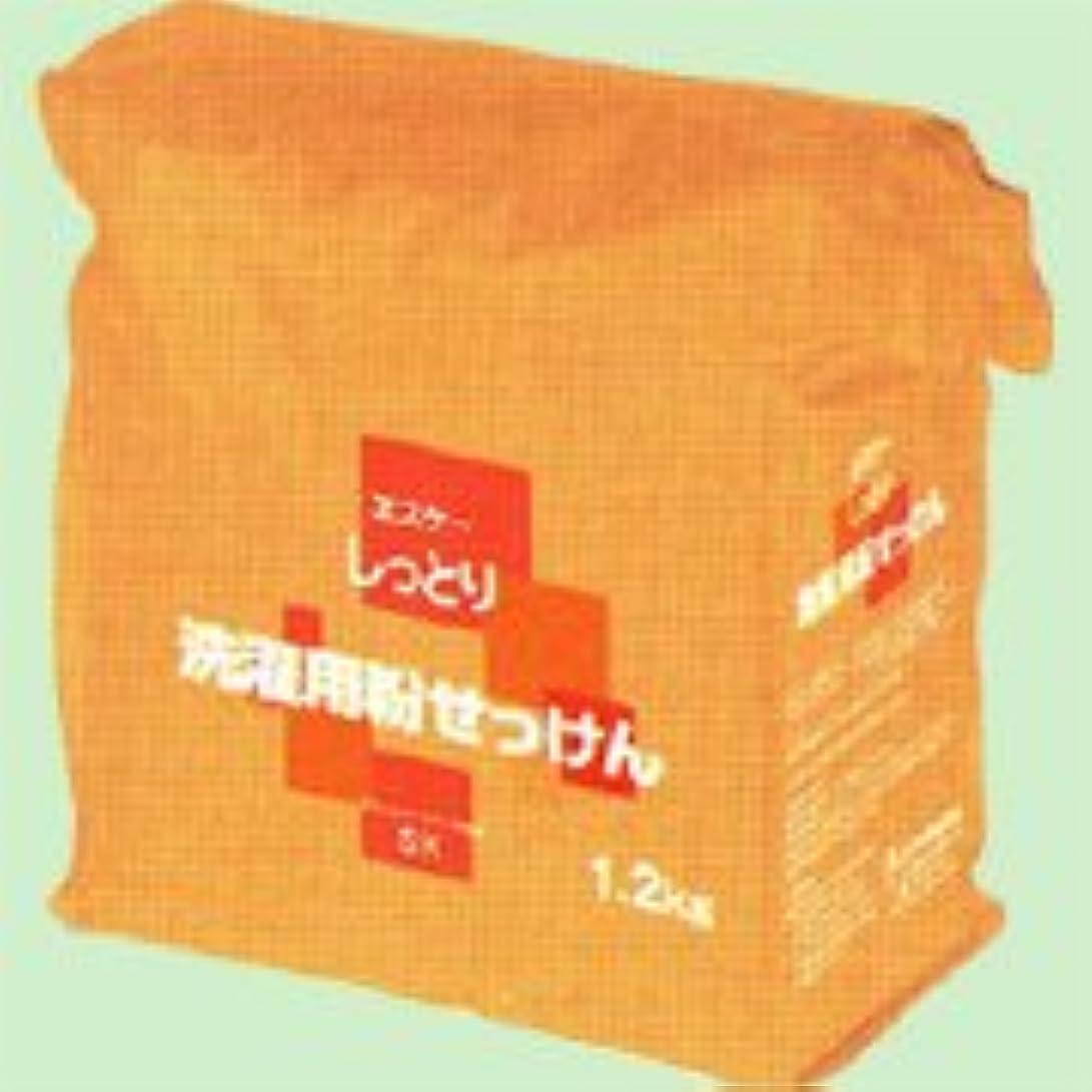 周辺観光に行くとげしっとり洗濯用粉せっけん詰替用 1.2kg   エスケー石鹸