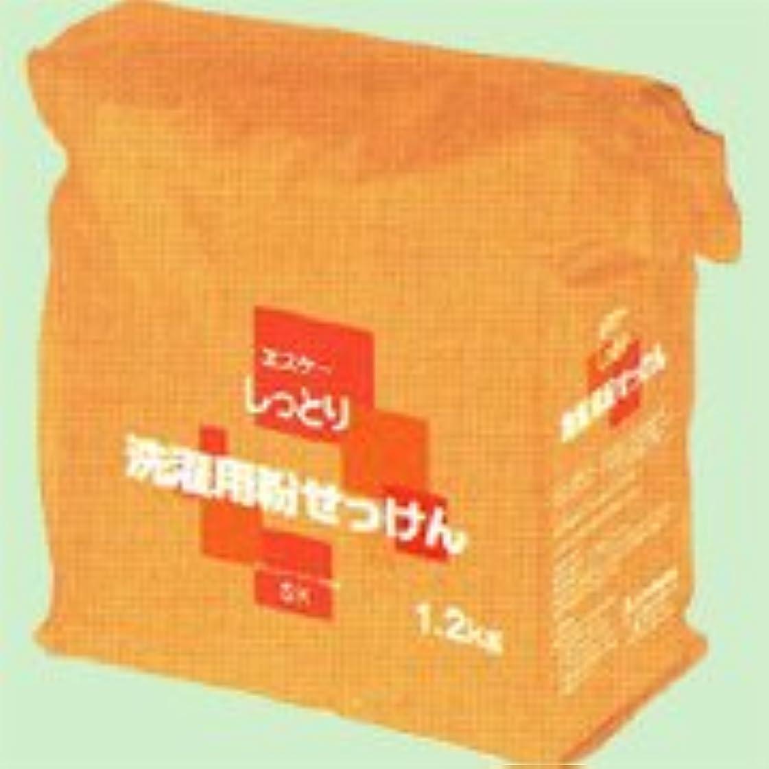 アシスト保持鋸歯状しっとり洗濯用粉せっけん詰替用 1.2kg   エスケー石鹸