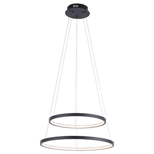 Paul Neuhaus Circle - Lampadario a sospensione a LED, Ø 500 mm, colore: Antracite