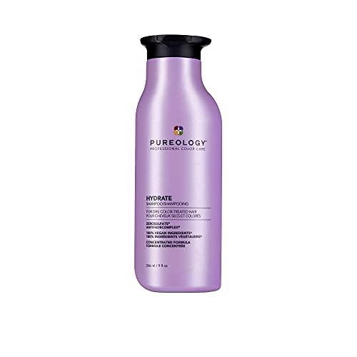 Pureology   Hydrate   Moisturising Shampoo   For Medium to Thick Dry, Colour Treated Hair   Vegan   266ml