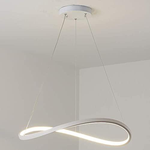LLLKKK Lámpara colgante LED para salón, comedor, diseño redondo moderno, 1 anillo, para mesa de comedor, dormitorio, cocina, apartamento, iluminación de techo, luz cálida, 3000 quilates, 40 cm