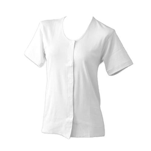 前開きシャツ 婦人 介護 半袖 下着 インナー 白 5L 43253-5l