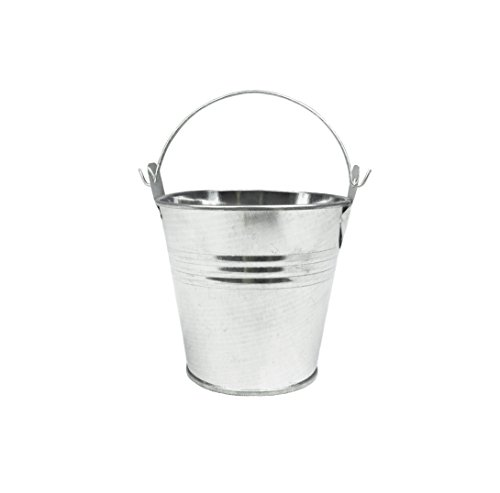 6pcs Metal Mini Bucket Candy Box Buckets with Handles Gift Pails for DIY Craft Floral Projects and Bridal Wedding Party Souvenirs Baby Showers (Silver)