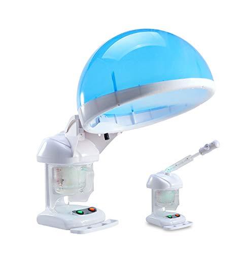 Cuiseur vapeur pour les cheveux et le visage 2-en-1,visage professionnel à la vapeur avec pulvérisateur à capuchon pour utilisation dans le salon ou à la maison, équipement de beauté pour la thérapie