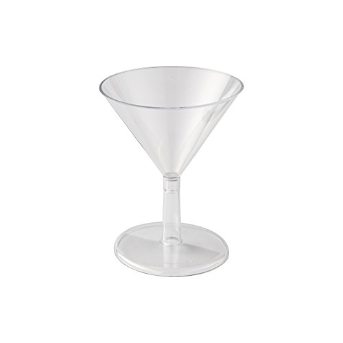 WNA Petites 24 Count Plastic Martini Glasses, Clear, 2 oz