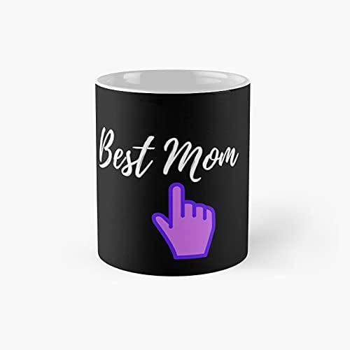 Best Mom Ponting Hand Taza clásica regalo divertidas tazas de café 11 oz