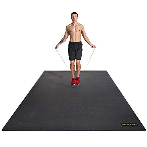 Miramat® Mega - Very Large Premium Exercise Mat (214 x 153 cm; 7mm Thick) - Durable Non-Slip Workout Mats for Home Gym, Crossfit, P90X, HIIT, Cardio Equipment, Yoga, and More by Mira Labs Pty. Ltd.