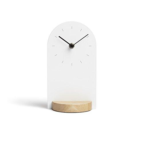 Umbra 118100-668 Sometime Reloj de pie de Madera y Metal, Color Blanco/Natural