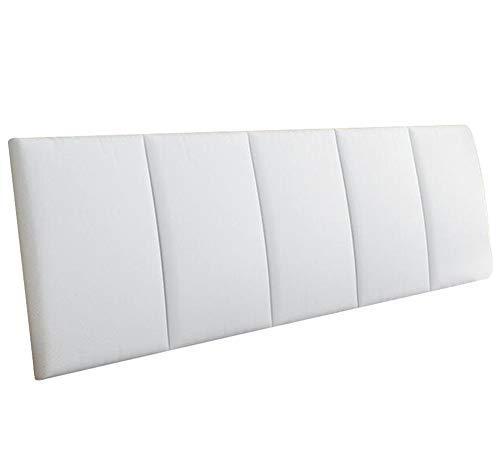 LXLIGHTS Kopfteil Kopfkissen Bettkeil Sofakissen Rückenlehne Taillenauflage, 7 Farben 6 Größen (Farbe : Weiß, größe : 200 * 55 * 5cm)