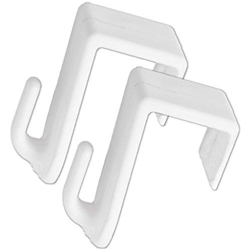 HOPEG 2er Set Fensterhaken Türhaken weiß | Klemmhalter | für Deko zum Aufhängen