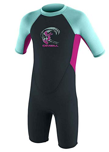 O'NEILL Toddler Reactor 2mm Back Zip Shorty Wetsuit Slate Berry Seaglass - UV Sun Protection and SPF Properties