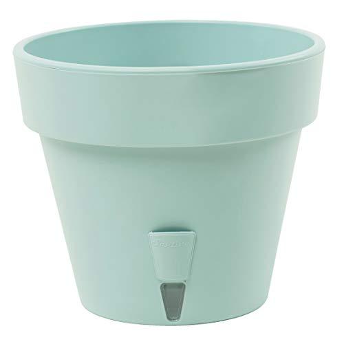 Maceta de autorriego con indicador de nivel de agua, para interiores y exteriores, Latina D 32 cm (14,5 L, jade)