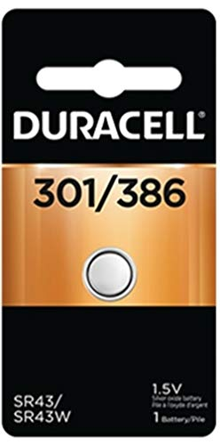Duracell Watch And Electronic Battery 1.5 V Model No. 301/386 Carded - (Pack of 6)