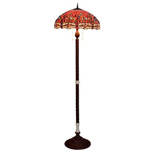 Efficiënt 50 cm Tiffany glasverf grote woonkamer eetkamer vloerlamp bar onderaan libel Jade klassiek luxe villa kantoor rood, tentoonstellingszaal, decoratieve lamp, clubhuis, loby, rode lib