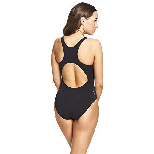 Zoggs Cottesloe Powerback Traje de Bao de una Sola Pieza, Negro, 16-40 para Mujer