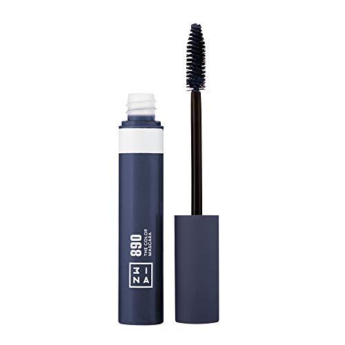 3ina Makeup - Vegan - Cruelty Free - The Color Mascara 890 - Bunter Mascara für Volumen und Länge - Bunte Wimperntusche - Hochpigmentiert - Langhaltende und Wasserfest - Navy blau